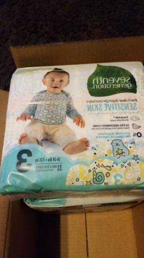 SEVENTH Free Clear Baby 3 16lbs 24lbs 124 Carton