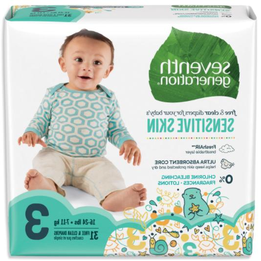 seventh generaton free and clear baby diapers