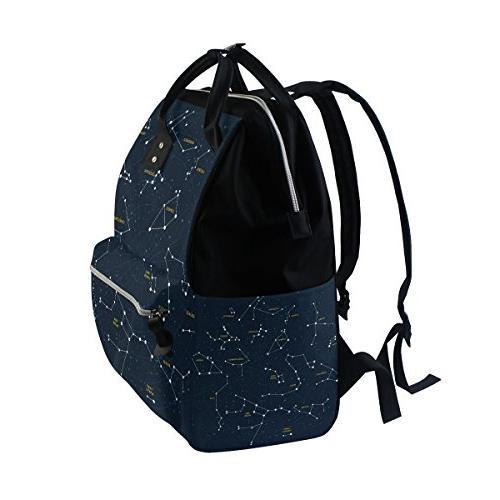 ALIREA Map Constellations Diaper Backpack, Large Backpack