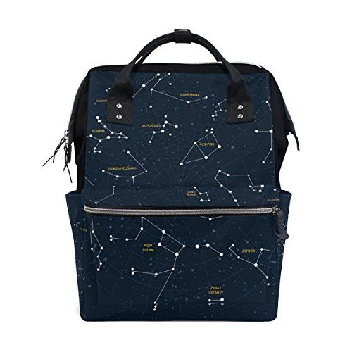 sky map constellations diaper bag
