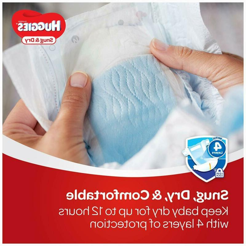 HUGGIES Snug Diapers, Size Count,
