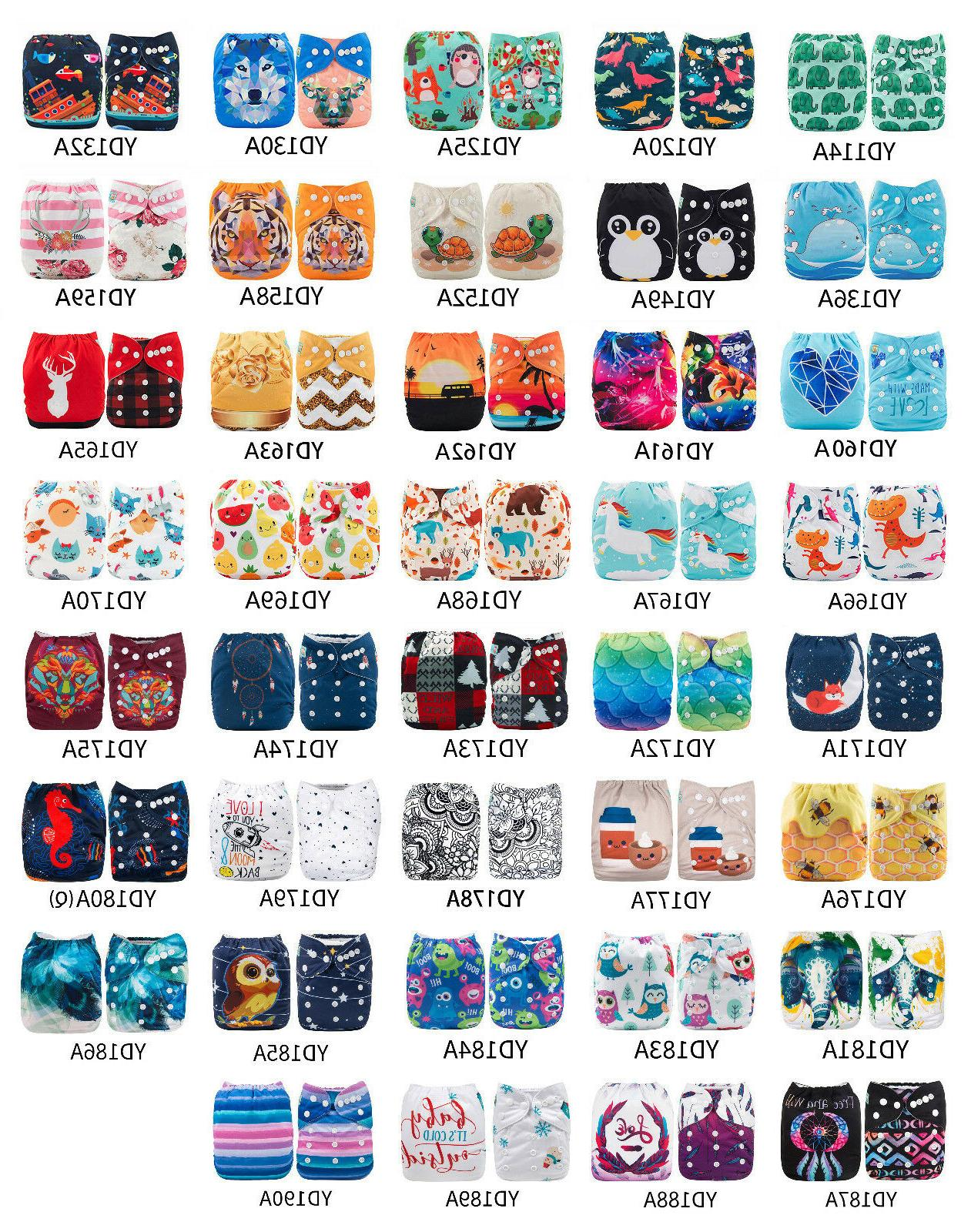 ALVA Baby Cloth Diapers Lot Washable Nappies Insert