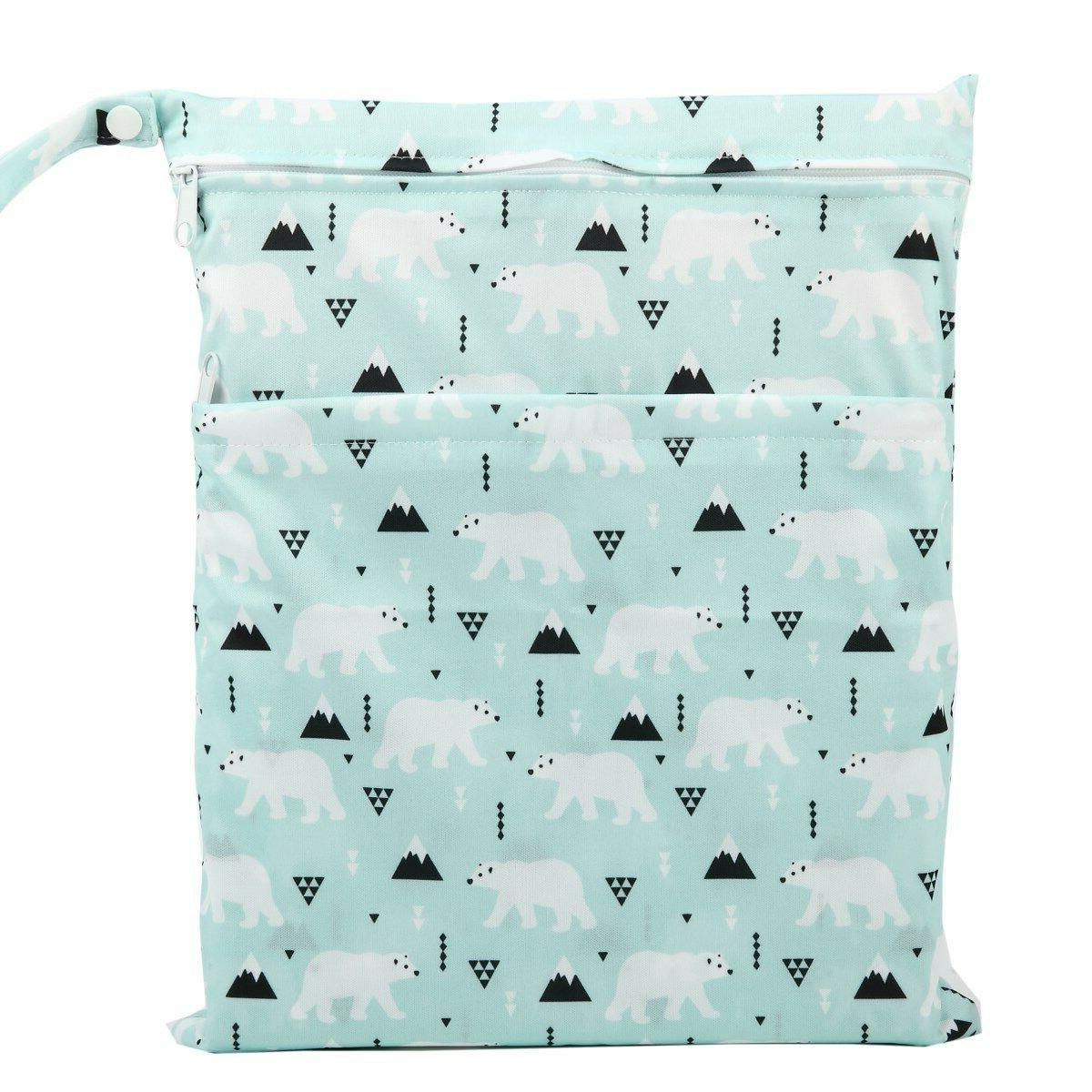 U Wet Dry Nappy Bag Reusable With Two Zipper