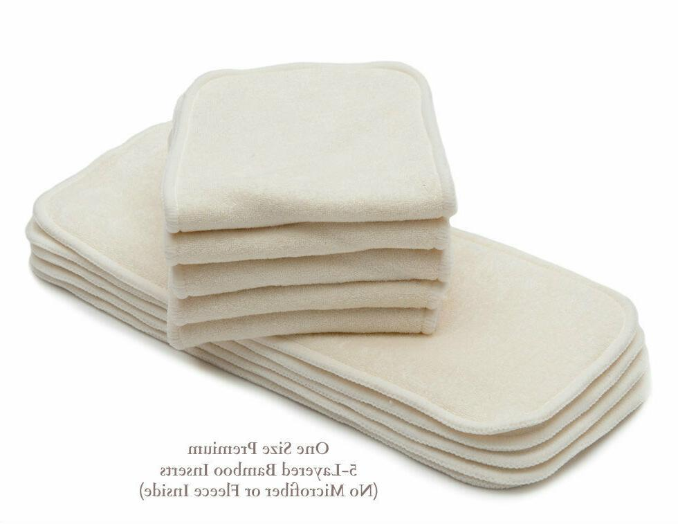 KaWaii Unisex Size Ultra Soft 6 Diapers Bamboo Inserts Warm