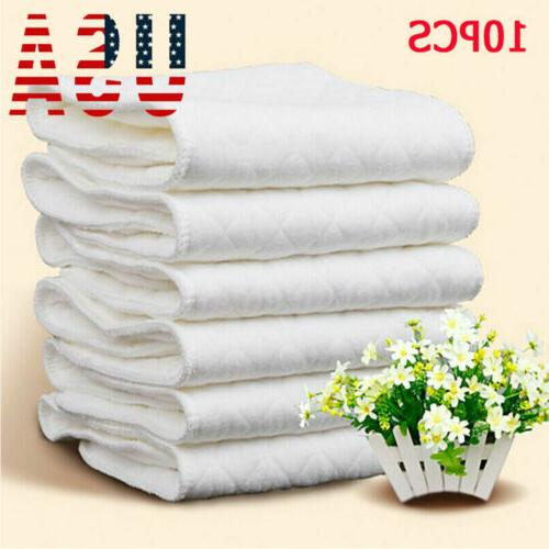 us 10pcs reusable washable inserts boosters liners