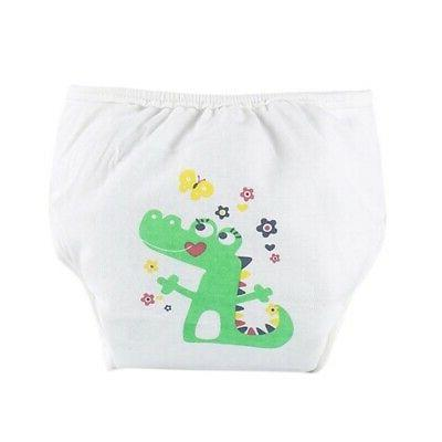 US Baby Cartoon Cover Washable Diapers Pants