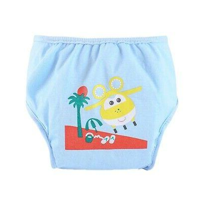 US Baby Cloth Cartoon Nappy Cover Washable Diapers Pants