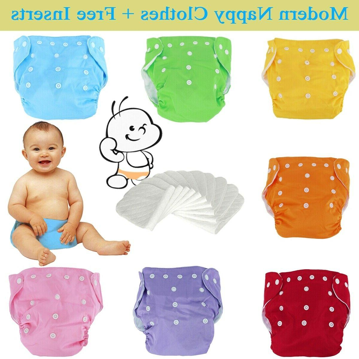 washable cloth diapers adjustable reusable nappies set