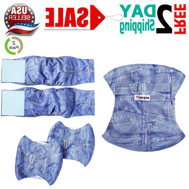 washable male dog diapers belly wrap leak