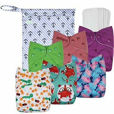 washable reusable baby cloth pocket diapers girl