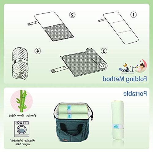 Waterproof Pad Liners - 100% Leak-Proof & Natural Anti-Bacterial Baby Diaper Change Cover for - Travel | 27 14 Inch