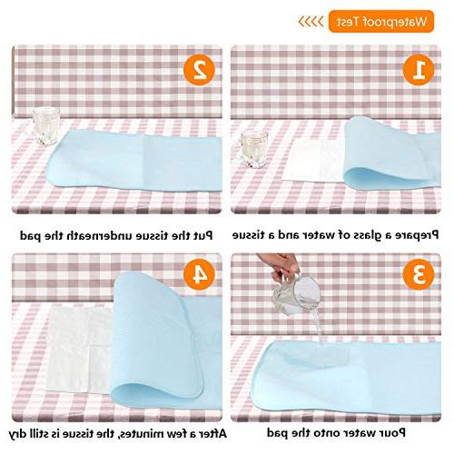 Waterproof Liners - & Diaper Station for - Breathable Travel 27 x Inch