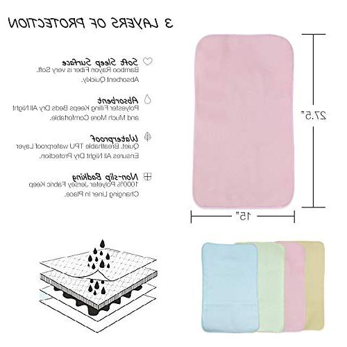 Waterproof Changing Liners - Leak-Proof & Diaper Station for Infants Breathable Travel Mat | Extra-Large 27 x 14 Inch
