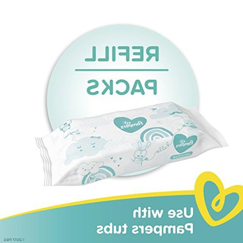 Pampers Sensitive Diaper Wipes, 9 Packs - and Unscented - Count