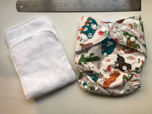 bumGenius Reusable Baby Flannel Wipes - Made of 100% Natural