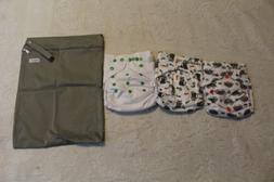 Langsprit Unisex Baby Cloth Diaper CD4 White One Size NWT