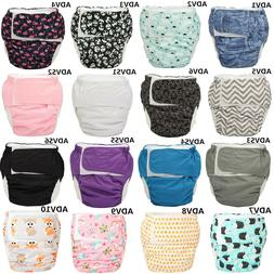 Large Adult Cloth Diaper Nappy Reusable Insert Age Play Hook