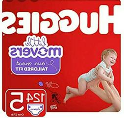 Huggies Little Movers Baby Diapers Size 5 - 124 Count
