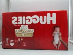 Huggies Little Snugglers 76 Diapers Size 1{Up to 14 lb / 6 k