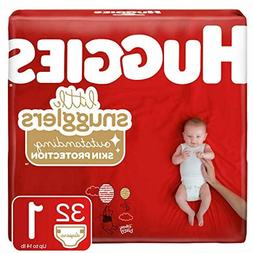 Huggies Little Snugglers Baby Diapers, Size 1, 32 Count
