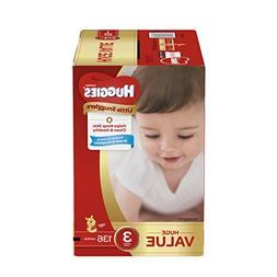 Huggies Little Snugglers Baby Diapers, Size 3, 136 Count, Hu