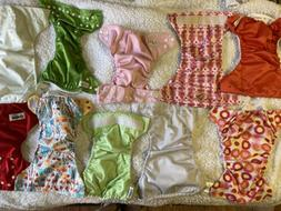 Lot Of 10 Reusable Cloth Adjustable Diapers BumGenius and Mo