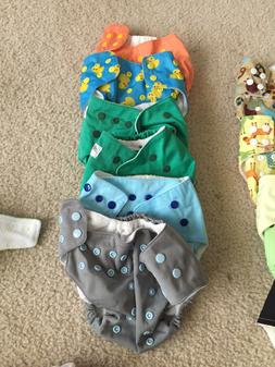 Lot Of 18 Cloth Diapers and 32 liners!!! Various brands EUC!