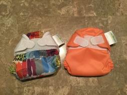 BumGenius Lot of 2 All In One Cloth Diapers Size XS Newborn
