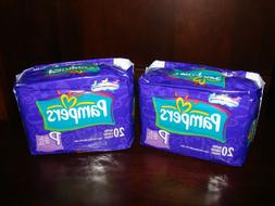 Lot of 2 Pampers Cloth Like Cover Diapers for Preemie Up to