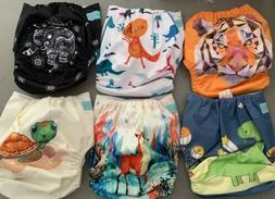 Lot Of 20 AlvaBaby Alva baby Cloth Diapers Boy NEW with Inse