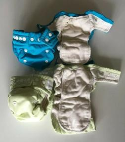 Lot of 4 Cloth Diapers and Covers OsoCozy Small 6-18 lbs