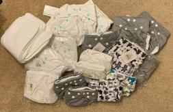 Lot of NEW FUZZIBUNZ Cloth Diapers and Cloth Diaper Inserts