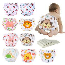 Lot Washable Breathable Reusable Infant Baby Nappies 5 Cloth