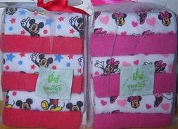 Disney Mickey Mouse or Minnie Mouse 12pk Wash Cloths, Baby S
