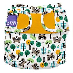 miosoft cloth diaper cover raccoon retreat size