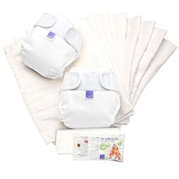 Bambino Mio, Miosoft Cloth Diaper Set, White, Size 2