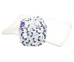 Bambino Mio Miosoft Two-Piece Diaper Butterfly Bloom, Size 1