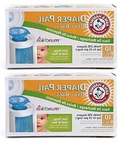 munchkin  diaper pail refill bags 10-count pack of 2