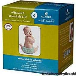NEW 6pc COCALO Perfect Bum Reusable Cloth Diapers  Sm/Med