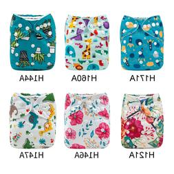 NEW ALVABABY Reusable Cloth Diapers One Size Washable Pocket