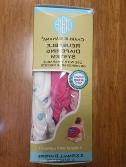 NEW Charlie Banana Cloth Diapers X-Small XS 3 diapers + 3 in