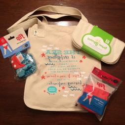 New Bumgenius Goodie Bag Lot W/ Cloth Wipes Jules & Sassy Fl