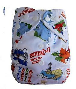 NEW MODERN CLOTH DIAPER MCN DIAPERS POTTY REUSABLE DR SUESS