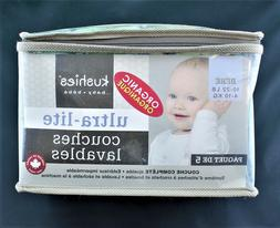 NEW! Organic Cotton - Kushies Ultra-Lite Infant Baby Diapers
