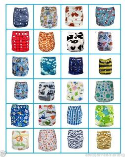 New Reusable Modern Baby Cloth Nappies All Size Diapers Prin