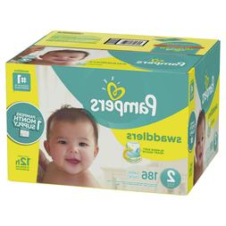 NEW - Pampers Swaddlers 186-Count Size 2 Pack Diapers - FREE