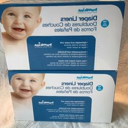 New Two  Pack Bumkins Flushable Biodegradable Baby Cloth Dia