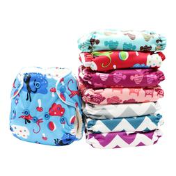 MABOJ Newborn All in One Cloth Diapers with Snaps Closure Re