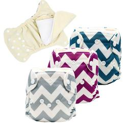 MABOJ Newborn All in One Cloth Diapers with Leak Gussets Reu