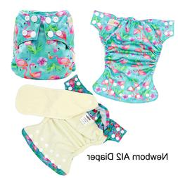 Newborn All in two Cloth Diaper Bamboo Inner AI2 Diapers Wat